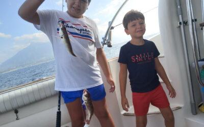 La pesca con niños en Lovit Charter